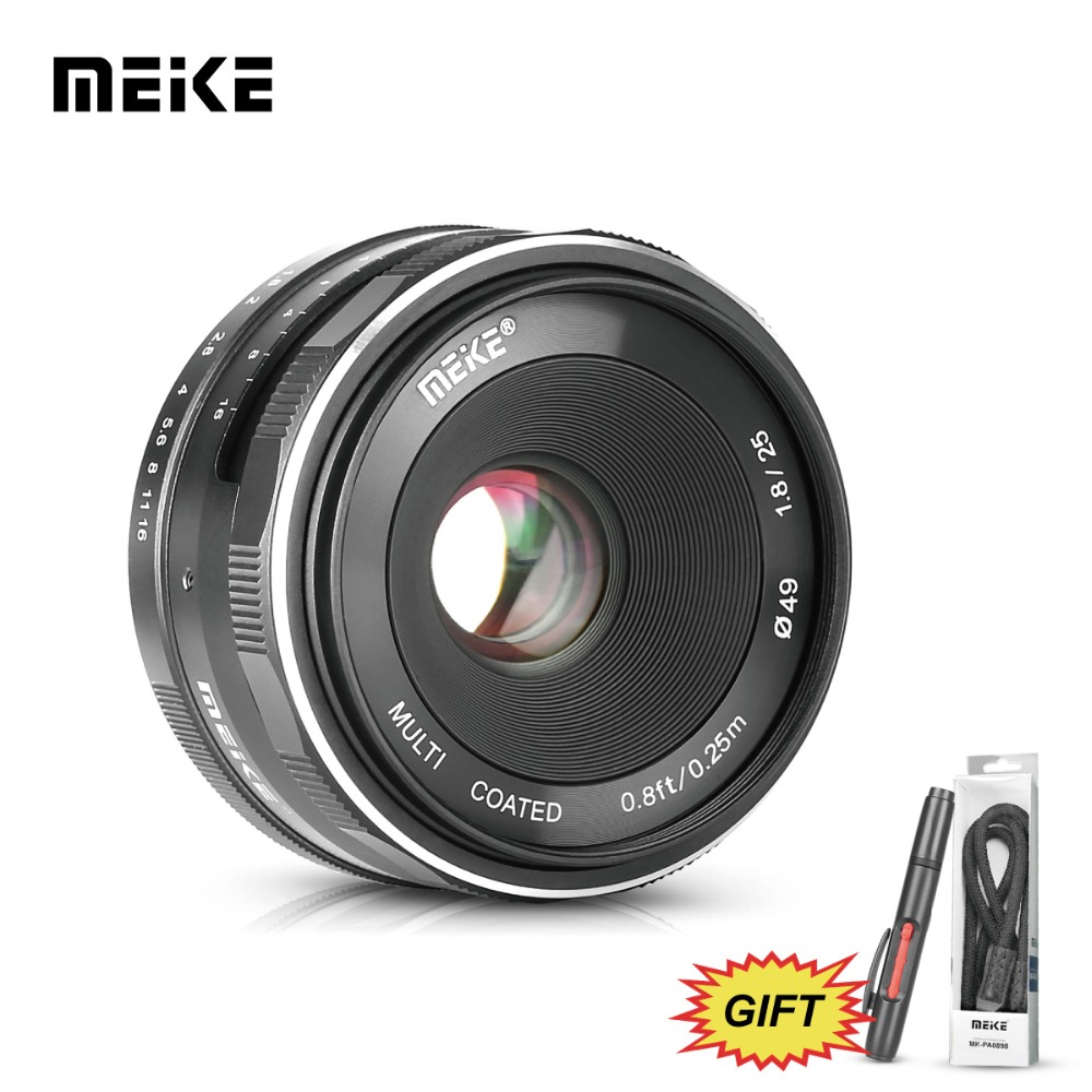 MEKE Meike MK 25mm f/1.8 Large Aperture Wide Angle Lens Manual for nikon J1/J2/J3/J4/J5 V1/V2/v3/V4 Mirrorless Cameras+Free Gift meke meike mk 35mm f1 7 large aperture manual focus lens for nikon1 v1 v2 v3 s1 s2 j1 j2 j3 j4 j5 cameras
