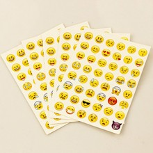 Hot sale sticker pack for kids Cute Emoji Sticker Kids Room Mini Decorative Sticker 10 sheets/package W0082