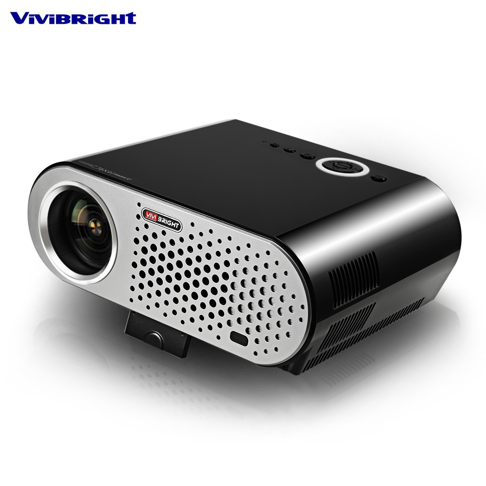 ViViBRiGHt GP90 Video Projector Home 3200 Lumens 1280 x 800 Support Full HD 1080P Video WXGA LED HDMI VGA Home Theater weshow v3 200lm 1280 x 800 rgb 3 color dlp hd mini 3d home projector w hdmi usb audio silver