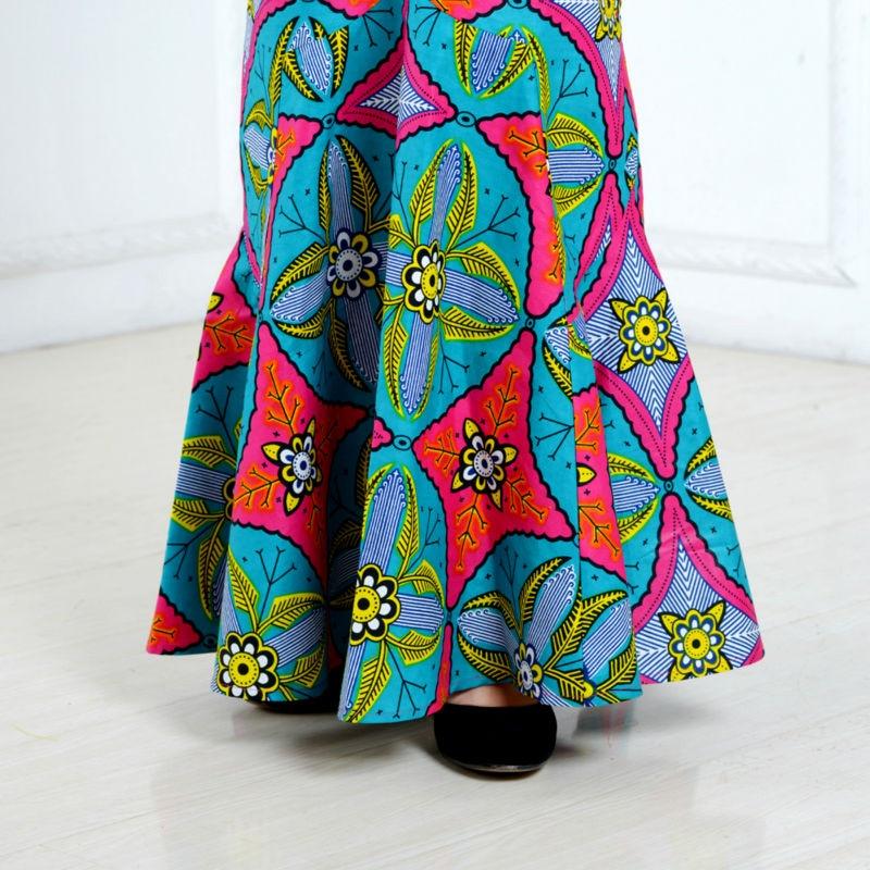 Sommarafrikanska klänningar för kvinnor tvådelade kostym - Nationella kläder - Foto 5