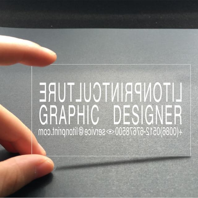 custom business card printing plastic transparent clear vip pvc card print waterproof name visiting - Waterproof Business Cards
