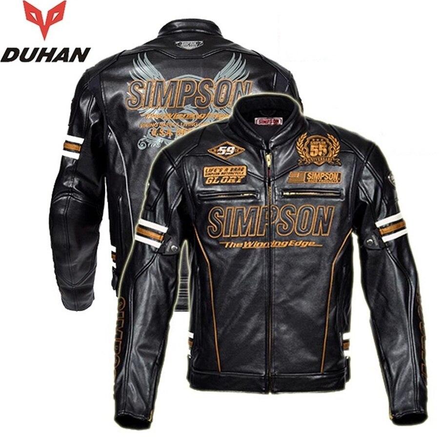 Livraison gratuite 1 pcs Hommes Imperméable et Chaud Moto Veste Moto Veste En Cuir avec Équipement De Protection