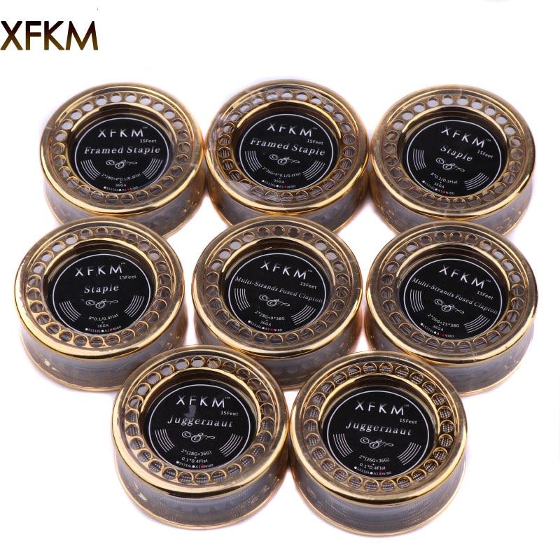 XFKM NI80 SS316L Nichelcromo Fili di Resistenza Ad Alta Densità Alien Clapton Wir per Sigaretta Elettronica RTA RDA Atomizzatore Filo di Riscaldamento