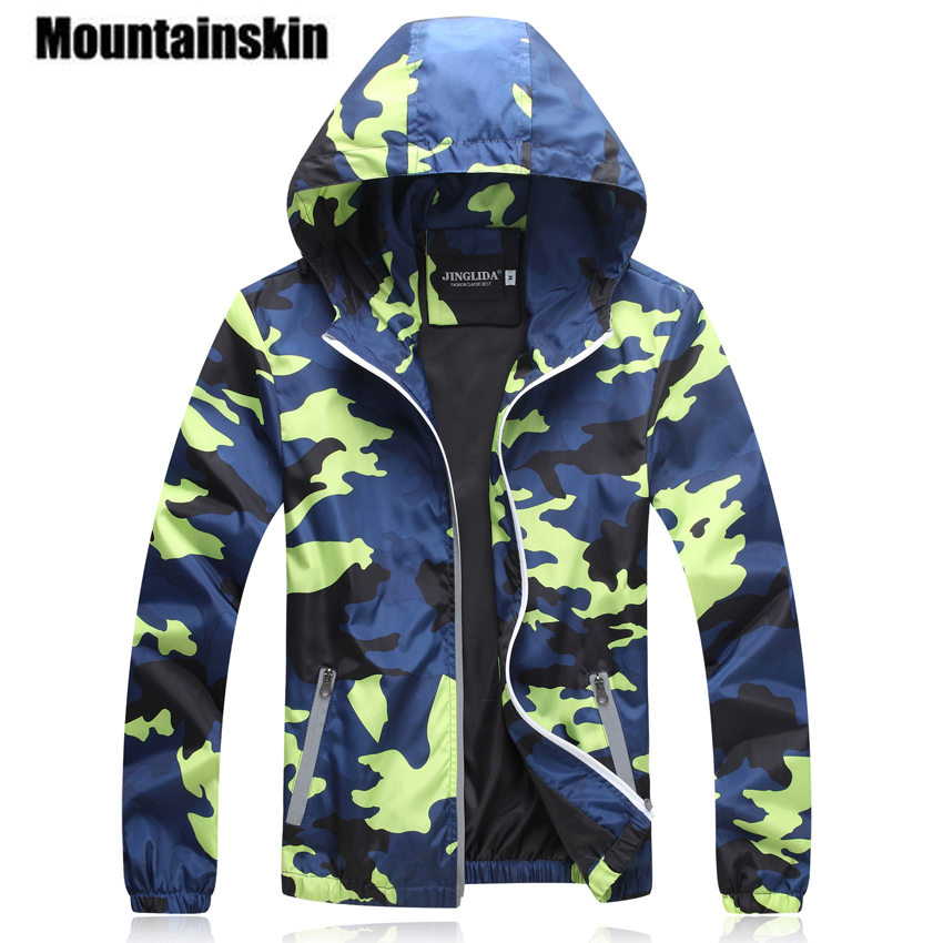 Mountainskin Camouflage Jackets Men s Coats 2017 Spring Summer Casual Camo Male Jackets Army Military Men