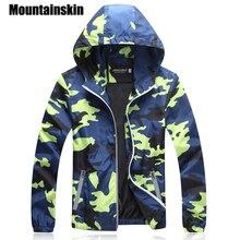 Mountainskin камуфляжные куртки Для мужчин пальто 2018 сезон: весна–лето Повседневное Камо мужской куртки военный Для мужчин верхняя одежда тонкий SA215