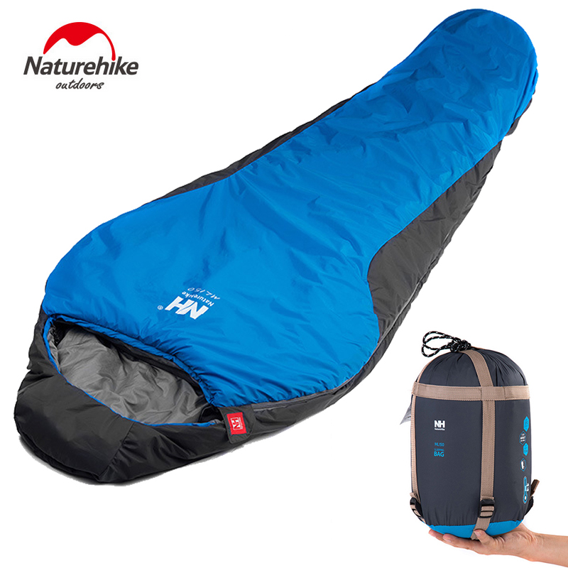 Naturehike Outdoor Professional Mummy Sleeping Bag Hiking Warm Lightweight Compact 3-4 Season For Adult/Child With Carry Bag 2018 wnnideo adult mummy 4 season sleeping bag warm length adjustable outdoor camping hiking travel zs7 1901