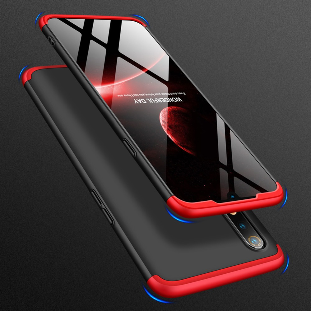 360 Degree Full Protection Hard Case For OPPO Realme 3 Cover shockproof case For OPPO Realme 3 case glass Film OPPO Realme3 in Fitted Cases from Cellphones Telecommunications