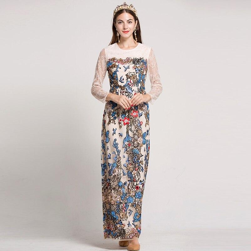 Здесь продается  New 2017 Autumn Runway Maxi Dress Women