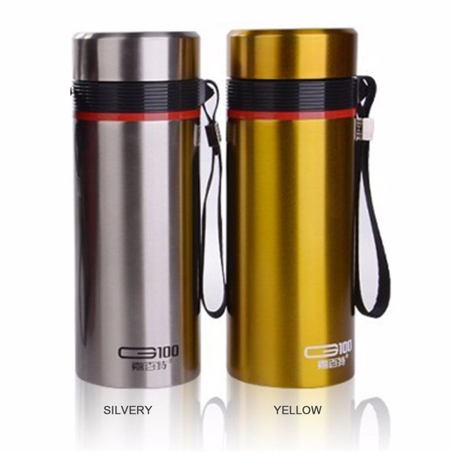 G100 Portable 550ML Leak Proof Double Wall Vacuum Stainless Steel Straight  Shape Insulation Cup With