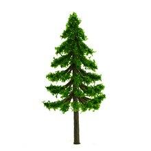 Wholesale -100pcs 8cm Middle Green Scenery Landscape Train Model Scale Trees
