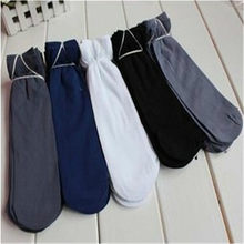 1pair/10pair Hot Mens Short Bamboo Fiber Middle Summer Autumn Business Socks Stockings drop shipping(China)