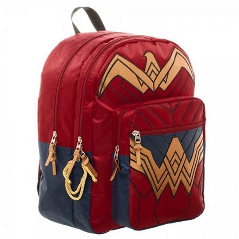 Dawn of Justice DC Wonder Woman Backpack men anti theft backpack notebook shoulder bag supreme diablo sword of justice