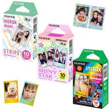For Fujifilm Instax Mini 8 9 Camera Film Sheets Pack   30 Exposures Instant Mini Photos    Rainbow , Shiny Star , Stripe Frame