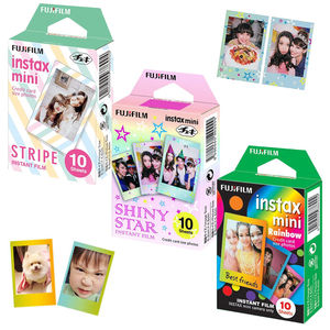 Image 1 - For Fujifilm Instax Mini 8 9 Camera Film Sheets Pack   30 Exposures Instant Mini Photos    Rainbow , Shiny Star , Stripe Frame