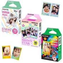 Пленка для Fujifilm Instax Mini 8 9, пленка для камеры, упаковка 30 фотографий, мгновенные фотографии Радужная, блестящая Звезда, рамка в полоску