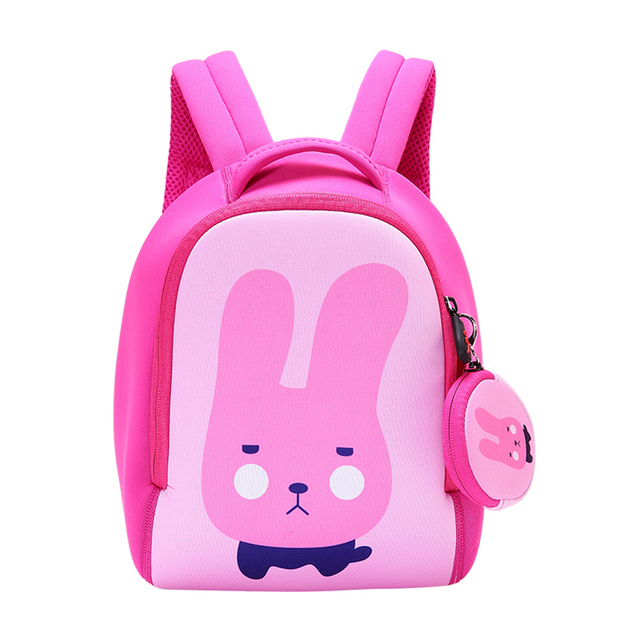 1ec13b1864a8 UEK Neoprene Bags for Girls Boys Backpack Kindergarten Children Cartoon  Rabbit Schoolbags Kids Cute Dog Dinosaur