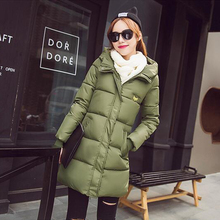 Горячая 2016 зима пуховик женская Мода Slim Down ватник Женский теплый толстый пальто куртки Женщины Твердые Верхняя Одежда пальто
