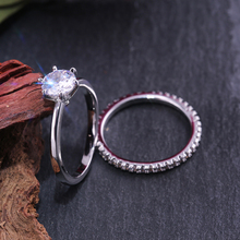 Huitan Classic 2PC Ring Sets Trendy Simple Engagement Solitare 6 Prong Wedding True Love Bague Wholesale Lots&Bulk Trending