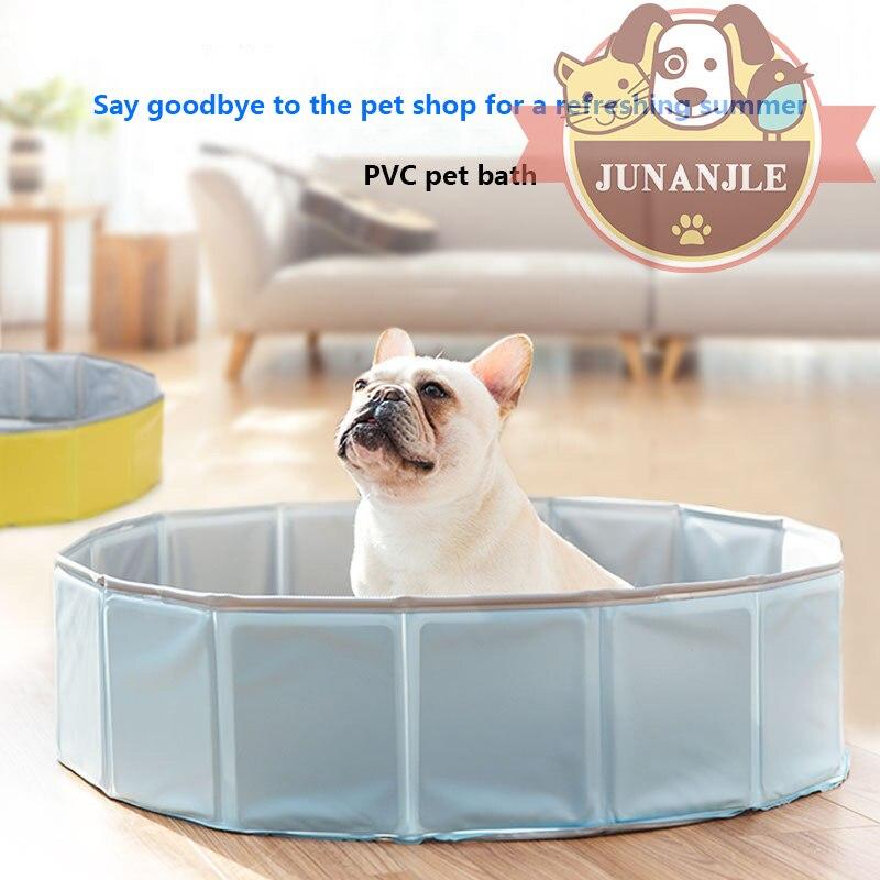 Шт. 1 шт.. Складная собачья кровать для купания летний бассейн Шнауцер щенок котенок Ванна Купание интерактивные Чихуахуа товары для животны