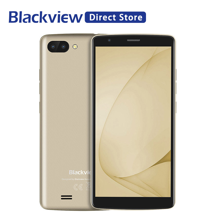 Blackview A20 Smartphones 18:9 5.5 inch Android Gaan dual Camera 1GB RAM 8GB ROM MT6580M 5MP 3G mobiele Telefoon-in Mobiele Telefoons van Mobiele telefoons & telecommunicatie op AliExpress - 11.11_Dubbel 11Vrijgezellendag 1