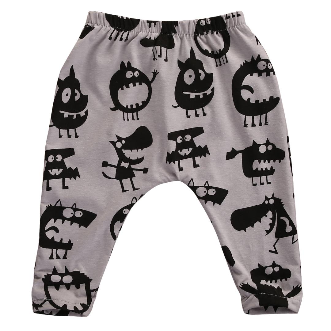 Hot Sale Autumn Spring Toddlers Infant Kids little monster pants Baby Boys Girls Harem Long Pants Trousers Leggings Bottoms 0-3Y