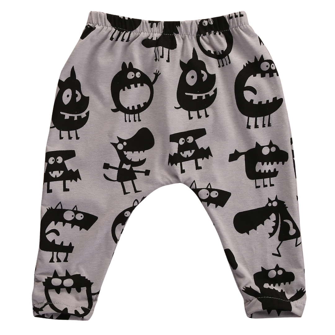 Hot Sale Autumn Spring Toddlers Infant Kids Little Monster Pants Baby Boys Girls Harem Long Pants Trousers Leggings Bottoms 0-3Y