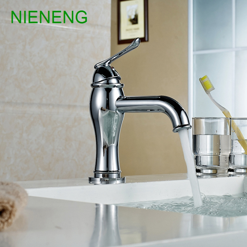 NIENENG big discount basin washroom mixer bathroom faucet tap mixers WC sanitary ware water toilet taps polished chrome ICD60157 ceramic stage wash basin sanitary ware art bathroom basin retro style palace fish free shipping
