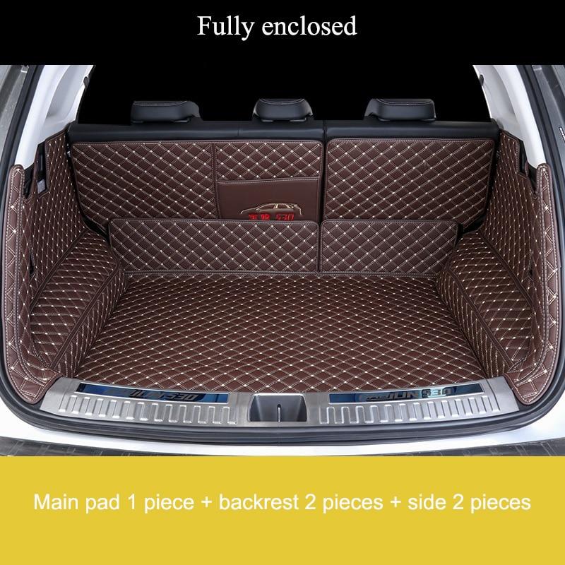 Personal Custom car trunk mats for Honda Series Jade Jazz 2014 2018 OdysseyⅤVezel Shuttle URV Inspier XRV all models trunk mats