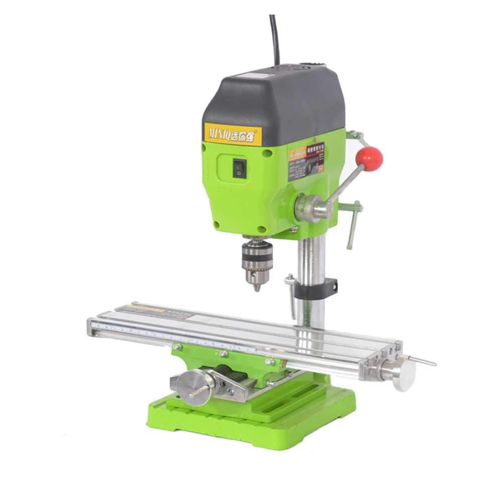 Mini máquina de fresagem, máquina multifuncional de precisão worktable bg6300 bancada para máquina fresadora de ajuste de eixo x e y tabela de coordenação