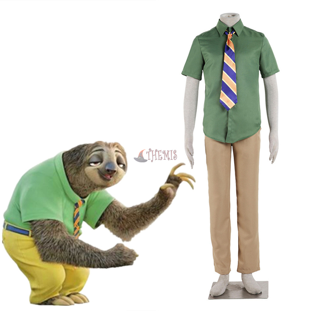 b61972266f4c Zootopia DMV worker Sloths Flash cosplay costume set Flash Zootopia  Halloween costumes for men