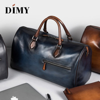 Free shipping DIMY brand fashion extra large weekend duffel bag big genuine leather business men's travel bag popular design