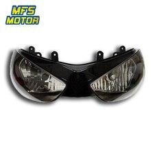 Headlight For 05-06 Kawasaki Ninja ZX6R ZX 6R ZX636 Motorcycle Front Lamp Assembly Upper Headlamp Head Light Housing 2005 2006