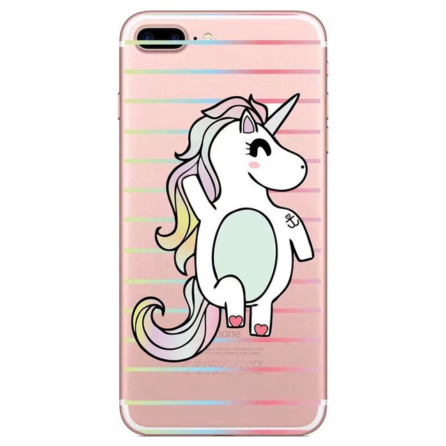 Unicorn Printed Clear Silicone Soft Phone Case