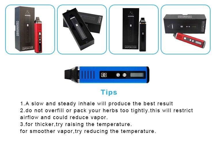 , Pathfinder II Dry Herb Vape Electronic Cigarette kit Pen Digital Vaporizer Vapor Temperature Control LCD Display Updated Titan 2