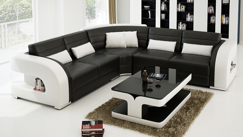 Attractive Modern Design High Quality Leather Sofa 0413 F3002B In Living Room Sofas  From Furniture On Aliexpress.com | Alibaba Group