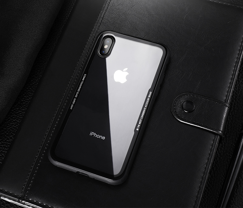 CAFELE New Original Phones Cases For iPhone X 10 Case soft TPU + Ultra Thin Transparent Glass Back Cover For iPhones X 10 Case (9)