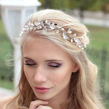 Nuovo argento hairbands wedding tiara nuziale corona fasce per capelli da sposa accessori testa monili wedding accessori per capelli(China)