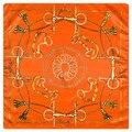 60 cm * 60 cm Nueva Llegada superior de la cadena de la cuerda de seda de las mujeres bufanda cuadrada con flecos pequeños al por mayor