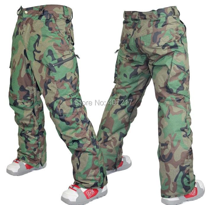 Prix pour 2015 hommes armée vert camouflage ski pantalon gris snowboard pantalon pour hommes sports d'hiver pantalon pantalons de neige étanche 10 K S-XL
