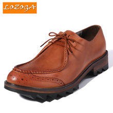 Newest Men's Shoes Handmade Genuine Leather Flats Fashion Oxfords Shoes Original Brand Shoes Spring Autumn Winter Lace-up Shoes