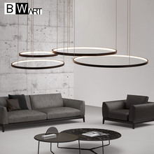 BWART led อลูมิเนียมวงกลมสำหรับภายในการออกแบบแสงวิศวกรรมสายแขวน โมเดิร์นโคมไฟระย้า