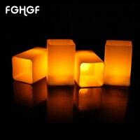 12 Adet Alevsiz Led Çay Işık Düğün Parti Için Lamba Silindirik Sarı Titrek LED Mumlar Ev Dekorasyon Hediyeler