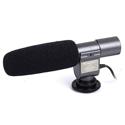SG-108 Stereo Microphone for DSLR DV camera black for Canon DSLR Camera DV Camcorder for Vloggers/Videomaker