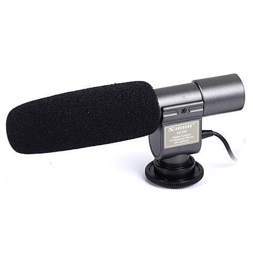 SG 108 Stereo Microphone for DSLR DV camera black