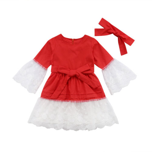 Brand New Fashion 2Pcs Newborn Kids Baby Girls Lace Princess Party Dress A-Line Sundress+Headband Cute Clothes Outfits new korea style fashion handbag cute kids children fashion brand princess party crossbody bag with gold chain for baby girls