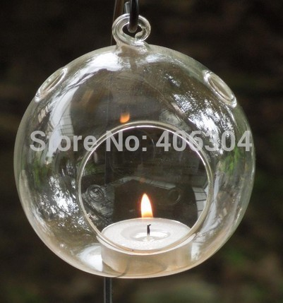 Free Shipping 10cm Transpa Hanging Gl Bubble Candle Holder With 3 Holes Christmas Clear Ball Wedding Party Decoration
