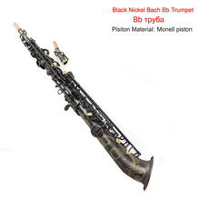 Soprano Sax Black Nickel Bach Bb Saxophone Grind Arenaceous Artificial Carve Patterns Or Designs On Woodwork Brass Russia Only