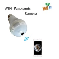 1 3MP 2MP Wifi 360 Degree Bulb Panoramic Camera Support Max 128GB TF Card Wireless IP