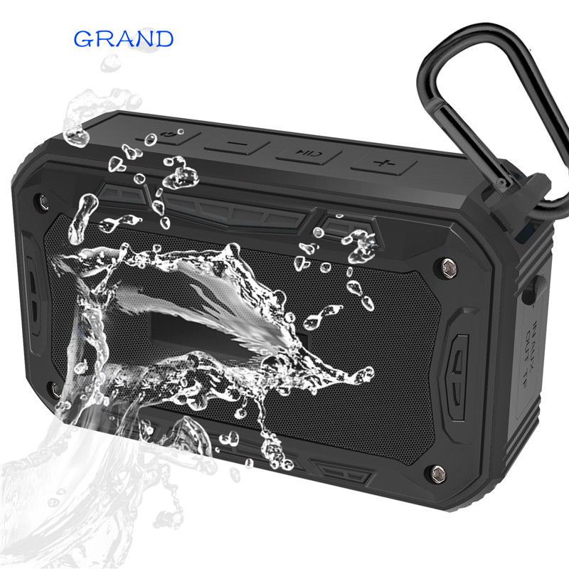 S618 Portable IP67 Waterproof Bluetooth Speaker Outdoor Sport Riding Climbing Bicycle Speakers Handsfree TF FM Radio HAPPY BATE 2016 newest portable led flashlight outdoor bluetooth speaker tf card stereo double horn sports bicycle speakers ad0093