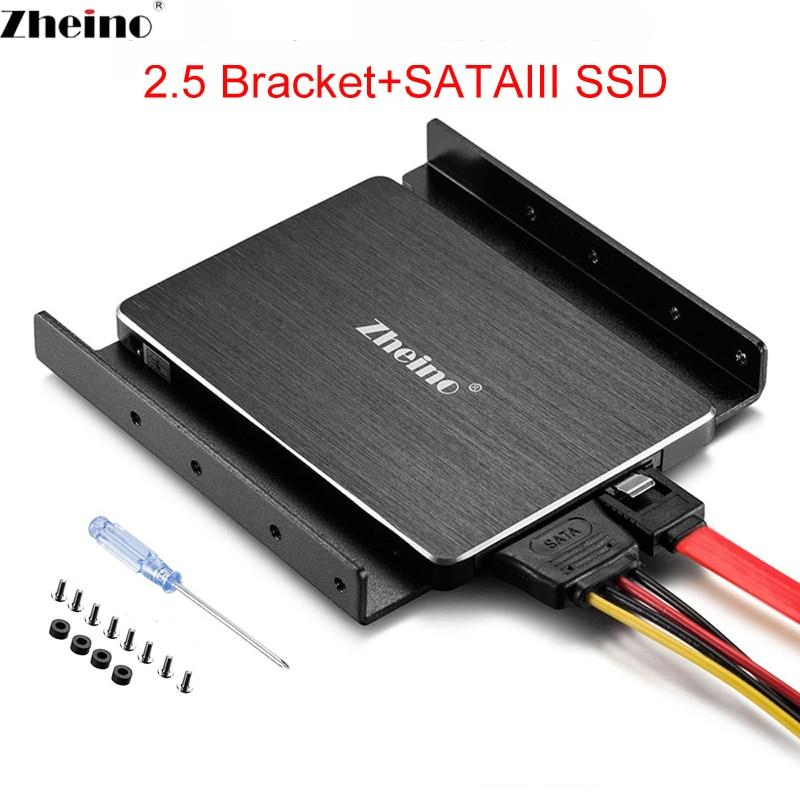 Zheino SATAIII SSD 60 GB 120 GB 240 GB 360 GB 480 GB 960 GB 128 GB 256GB 512 GB 1 TB de aluminio adaptador de montaje de soporte para escritorio